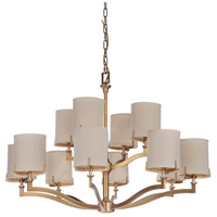 Craftmade 48312-VB Devlyn 12 Light 38 inch Vintage Brass Chandelier Ceiling Light, Gallery Collection