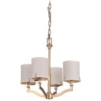 Craftmade 48324-VB Devlyn 4 Light 22 inch Vintage Brass Chandelier Ceiling Light Gallery Collection