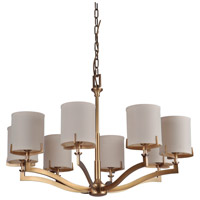 Craftmade 48328-VB Devlyn 8 Light 34 inch Vintage Brass Chandelier Ceiling Light, Gallery Collection