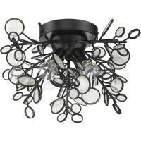Craftmade 48784-MBK Sigrid 4 Light 18 inch Matte Black Flushmount Ceiling Light