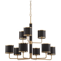 Craftmade 48829-SB Quinn 9 Light 36 inch Satin Brass Chandelier Ceiling Light