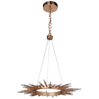 Korona LED 26 inch Satin Brass Pendant Ceiling Light