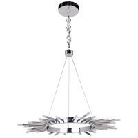 Craftmade 49121-CH-LED Korona LED 32 inch Chrome Chandelier Ceiling Light