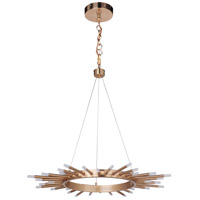 Korona LED 32 inch Satin Brass Pendant Ceiling Light