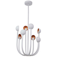 Craftmade 49228-MWWGL-LED Foundry LED 19 inch Matte White and Gold Leaf Chandelier Ceiling Light photo thumbnail