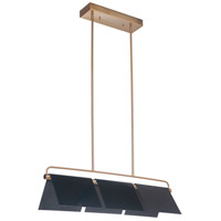 Craftmade 49573-GBKSB-LED Tente LED 36 inch Gloss Black and Satin Brass Island Light Ceiling Light