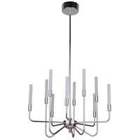 Craftmade 49610-PLN-LED Valdi LED 27 inch Polished Nickel Chandelier Ceiling Light