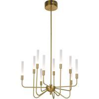 Craftmade 49610-SB-LED Valdi LED 27 inch Satin Brass Chandelier Ceiling Light