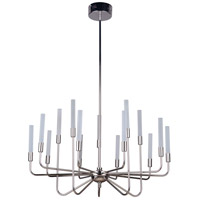 Craftmade 49615-PLN-LED Valdi LED 33 inch Polished Nickel Chandelier Ceiling Light