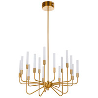 Craftmade 49615-SB-LED Valdi LED 33 inch Satin Brass Chandelier Ceiling Light