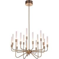 Craftmade 49615-SB-LED Valdi LED 33 inch Satin Brass Chandelier Ceiling Light