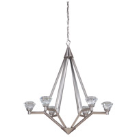 Brushed Aluminum Steel Chandeliers