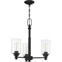 Craftmade 49823-FB-C Neighborhood Dardyn 3 Light 21 inch Flat Black Chandelier Ceiling Light
