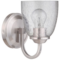Craftmade 49901-BNK Serene 1 Light 6 inch Brushed Polished Nickel Wall Sconce Wall Light in Clear Seeded Neighborhood Collection