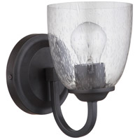 Craftmade 49901-ESP Serene 1 Light 6 inch Espresso Wall Sconce Wall Light in Clear Seeded Neighborhood Collection