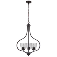 Craftmade 49933-ESP Neighborhood Serene 3 Light 23 inch Espresso Foyer Light Ceiling Light in Clear Seeded Neighborhood Collection