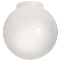 Ball Etched Frost 6 inch Glass in Etched Frosted Glass
