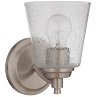 Craftmade 50201-BNK Tyler 1 Light 6 inch Brushed Polished Nickel Wall Sconce Wall Light in Clear Seeded Neighborhood Collection