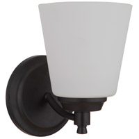 Craftmade 50201-FB-WG Tyler 1 Light 6 inch Flat Black Wall Sconce Wall Light in White Frost Glass Neighborhood Collection