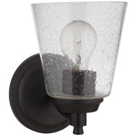 Craftmade 50201-FB Tyler 1 Light 6 inch Flat Black Wall Sconce Wall Light in Clear Seeded Neighborhood Collection