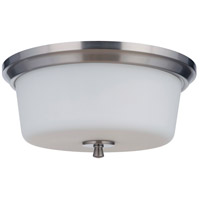 Craftmade 50283-BNK-WG Neighborhood Tyler 3 Light 15 inch Brushed Polished Nickel Flushmount Ceiling Light in White Frost Glass, Neighborhood Collection