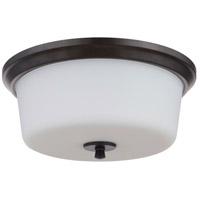 Craftmade 50283-FB-WG Tyler 3 Light 15 inch Flat Black Flushmount Ceiling Light in White Frost Glass Neighborhood Collection