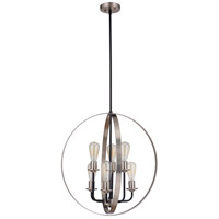 Craftmade 50336-FBBNK Randolph 6 Light 24 inch Flat Black/Brushed Polished Nickel Foyer Ceiling Light Neighborhood Collection