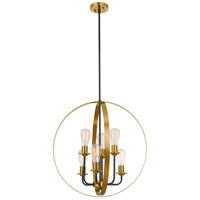 Craftmade 50336-FBSB Randolph 6 Light 24 inch Flat Black/Satin Brass Foyer Ceiling Light in Flat Black and Satin Brass Neighborhood Collection