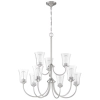 Craftmade 50429-BNK Gwyneth 9 Light 32 inch Brushed Polished Nickel Chandelier Ceiling Light in Clear Seeded Neighborhood Collection
