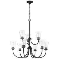 Craftmade 50429-FB Gwyneth 9 Light 32 inch Flat Black Chandelier Ceiling Light in Clear Seeded Neighborhood Collection