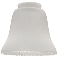 Craftmade Signature Fan Glass in Frosted Ribbed Bell Glass 505
