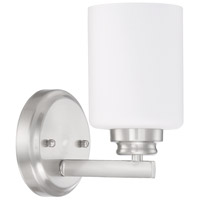 Craftmade 50501-BNK-WG Bolden 1 Light 5 inch Brushed Polished Nickel Wall Sconce Wall Light in White Frost Glass Neighborhood Collection