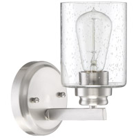 Craftmade 50501-BNK Bolden 1 Light 5 inch Brushed Polished Nickel Wall Sconce Wall Light in Clear Seeded Neighborhood Collection