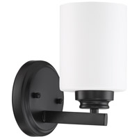 Craftmade 50501-FB-WG Bolden 1 Light 5 inch Flat Black Wall Sconce Wall Light in White Frost Glass Neighborhood Collection