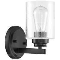 Craftmade 50501-FB Bolden 1 Light 5 inch Flat Black Wall Sconce Wall Light in Clear Seeded Neighborhood Collection