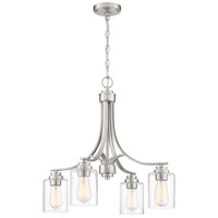 Craftmade 50524-BNK Bolden 4 Light 23 inch Brushed Polished Nickel Chandelier Ceiling Light in Clear Seeded Neighborhood Collection