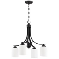 Craftmade 50524-FB-WG Bolden 4 Light 23 inch Flat Black Chandelier Ceiling Light in White Frost Glass Neighborhood Collection