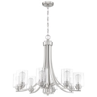 Craftmade 50528-BNK Neighborhood Bolden 8 Light 29 inch Brushed Polished Nickel Chandelier Ceiling Light in Clear Seeded, Neighborhood Collection