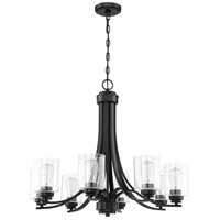 Craftmade 50528-FB Bolden 8 Light 29 inch Flat Black Chandelier Ceiling Light in Clear Seeded Neighborhood Collection