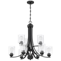 Craftmade 50529-FB Bolden 9 Light 29 inch Flat Black Chandelier Ceiling Light in Clear Seeded Neighborhood Collection