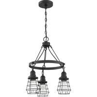 Craftmade 50623-FB Thatcher 3 Light 18 inch Flat Black Chandelier Ceiling Light Neighborhood Collection