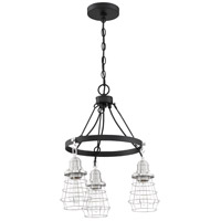 Craftmade 50623-FBBNK Thatcher 3 Light 18 inch Flat Black/Brushed Polished Nickel Chandelier Ceiling Light Neighborhood Collection