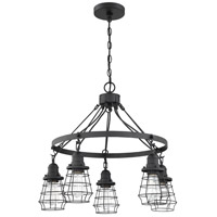Craftmade 50625-FB Thatcher 5 Light 25 inch Flat Black Chandelier Ceiling Light Neighborhood Collection