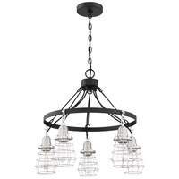 Craftmade 50625-FBBNK Thatcher 5 Light 25 inch Flat Black/Brushed Polished Nickel Chandelier Ceiling Light Neighborhood Collection
