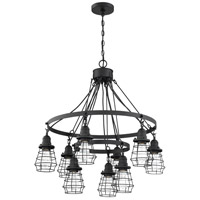 Craftmade 50629-FB Neighborhood Thatcher 9 Light 30 inch Flat Black Chandelier Ceiling Light Neighborhood Collection