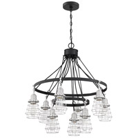 Craftmade 50629-FBBNK Thatcher 9 Light 30 inch Flat Black/Brushed Polished Nickel Chandelier Ceiling Light Neighborhood Collection