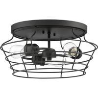 Craftmade 50683-FB Thatcher 3 Light 17 inch Flat Black Flushmount Ceiling Light Neighborhood Collection