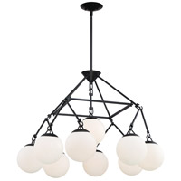 Craftmade 50729-FB Orion 9 Light 30 inch Flat Black Chandelier Ceiling Light