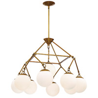 Craftmade 50729-PAB Orion 9 Light 30 inch Patina Aged Brass Chandelier Ceiling Light