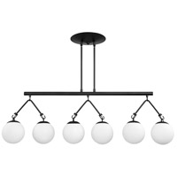Craftmade 50776-FB Orion 6 Light 45 inch Flat Black Island Light Ceiling Light
